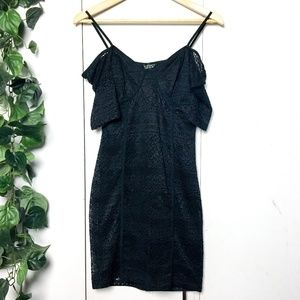 Topshop Lace Bustier Mini Dress in Black | Size 6